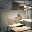 Atelier de restauration des arts graphiques du Louvre